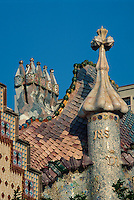 Spanien, Katalonien, Barcelona, Casa Batllo von Antoni Gaudi, Unesco-Weltkulturerbe