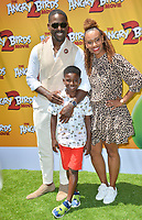 """LOS ANGELES, USA. August 10, 2019: Sterling K. Brown, Ryan Michelle Bathe & Son at the premiere of """"The Angry Birds Movie 2"""" at the Regency Village Theatre.<br /> Picture: Paul Smith/Featureflash"""