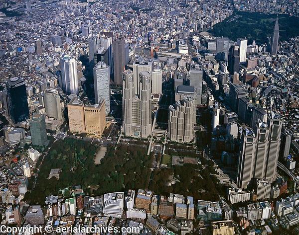aerial photograph of Tokyo, Japan