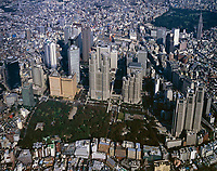aerial photograph of Tokyo, Japan