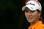 CHON BURI, THAILAND - FEBRUARY 17:  Hee Young Park of South Korea smiles on the 17th tee during day two of the LPGA Thailand at Siam Country Club on February 17, 2012 in Chon Buri, Thailand.  Photo by Victor Fraile / The Power of Sport Images