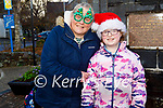 Georgina and Clodagh O'Shea from Killorglin enjoying their shopping in Killorglin on Tuesday.