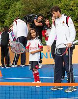 13-09-12, Netherlands, Amsterdam, Tennis, Daviscup Netherlands-Swiss, Streettennis, with Robin Haase
