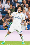 Marcelo Vieira Da Silva of Real Madrid reacts during their 2016-17 UEFA Champions League Quarter-finals second leg match between Real Madrid and FC Bayern Munich at the Estadio Santiago Bernabeu on 18 April 2017 in Madrid, Spain. Photo by Diego Gonzalez Souto / Power Sport Images