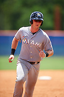 GCL Marlins catcher Matthew Foley (26) running the bases during a game against the GCL Mets on August 12, 2016 at St. Lucie Sports Complex in St. Lucie, Florida.  GCL Marlins defeated GCL Mets 8-1.  (Mike Janes/Four Seam Images)