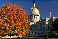AJ3119, state capitol, state house, Charleston, West Virginia, The State Capitol Building in the capital city of Charleston in the autumn in the state of West Virginia.