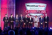 Tudor watches, #86 Meyer Shank Racing w/ Curb-Agajanian Acura NSX GT3, GTD: Mario Farnbacher, Trent Hindman, #52 PR1 Mathiasen Motorsports ORECA LMP2, LMP2: Matthew McMurry,  #912 Porsche GT Team Porsche 911 RSR, GTLM: Earl Bamber, Laurens Vanthoor, #6 Acura Team Penske Acura DPi, DPi: Juan Pablo Montoya, Dane Cameron, IMSA WeatherTech Awards Banquet, Chateau Elan, Braselton, GA, October 2019.