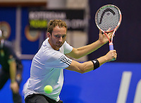 December 18, 2014, Rotterdam, Topsport Centrum, Lotto NK Tennis, Men's singles quarter final,  Matwé Middelkoop (NED)<br /> Photo: Tennisimages/Henk Koster