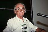 United Nations Conference on Environment and Development, Rio de Janeiro, Brazil, 3rd to 14th June 1992. Brazilian Environment Minister Professor Jose Lutzenberger, 1926-2002, at the Global Forum.