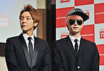 Yoonhak and Sungje(Choshinsung, Supernova), Aug 30, 2013 : Tokyo, Japan : Yunhak(L) and Sungje attend a press conference for new promotion video of Lotte Duty Free shop in Tokyo, Japan, on August 30, 2013.