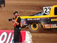 Apr 15, 2011; Surprise, AZ USA; LOORRS photographer Gil Rebilas during round 3 and 4 at Speedworld Off Road Park. Mandatory Credit: Mark J. Rebilas-.
