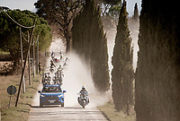 try and spot the breakaway group....<br /> <br /> 15th Strade Bianche 2021<br /> ME (1.UWT)<br /> 1 day race from Siena to Siena (ITA/184km)<br /> <br /> ©kramon