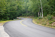 Bear Notch Road in Bartlett, New Hampshire. This road follows much of the old Bartlett and Albany Railroad which was a logging railroad in operation from 1887-1894.