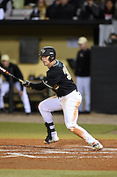 UCF Knights outfielder Matt Diorio (30) at bat during the opening game of the season against the Siena Saints on February 13, 2015 at Jay Bergman Field in Orlando, Florida.  UCF defeated Siena 4-1.  (Mike Janes/Four Seam Images)