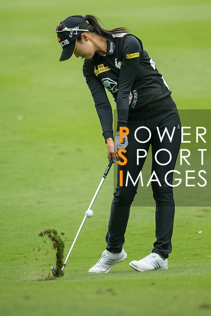 Ji Hyun Oh of South Korea plays a second shot at the 4th hole during Round 2 of the World Ladies Championship 2016 on 11 March 2016 at Mission Hills Olazabal Golf Course in Dongguan, China. Photo by Victor Fraile / Power Sport Images