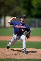 Minnesota Twins Brandon Peterson (41) during a minor league Spring Training game against the Baltimore Orioles on March 16, 2016 at CenturyLink Sports Complex in Fort Myers, Florida.  (Mike Janes/Four Seam Images)