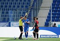 16th May 2020, Rhein-Neckar-Arena, Hoffenheim, Germany; Bundesliga football,1899 Hoffenheim versus Hertha Berlin; Referee Christian Dingert yellow cards Peter Pekarik Berlin