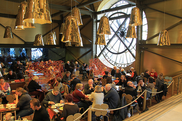Restaurant inside the Musee D'Orsay, Paris, France.