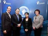 """*** NO FEE PIC***.16/12/2011.(L to R).Anthony RomeroExecutive Director American Civil Liberties Union (ACLU),.Mark Kelly Director Irish Council for Civil Liberties (ICCL),.Shami Chakrabarti Director Liberty,.Dr Joanna McMinn Chair Equality & Rights Allaince (ERA).during the """"The Future of Human Rights Global Techniques Securing Local Impact"""" international seminar at The Westbury Hotel, Dublin..Photo: Gareth Chaney Collins"""