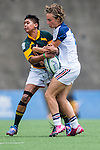 France vs South Africa during the Day 1 of the IRB Women's Sevens Qualifier 2014 at the Skek Kip Mei Stadium on September 12, 2014 in Hong Kong, China. Photo by Aitor Alcalde / Power Sport Images