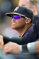 New York Yankees Mason Williams (80) during a Spring Training game against the Pittsburgh Pirates on March 5, 2015 at McKechnie Field in Bradenton, Florida.  New York defeated Pittsburgh 2-1.  (Mike Janes/Four Seam Images)