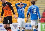 St Johnstone v Dundee United...09.05.15   SPFL<br /> Danny Swanson reacts to a near miss<br /> Picture by Graeme Hart.<br /> Copyright Perthshire Picture Agency<br /> Tel: 01738 623350  Mobile: 07990 594431