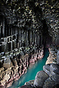 Fingal's Cave, showing basalt columns, Isle of Staffa, Inner Hebrides, Scotland, UK