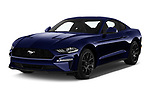 2018 Ford Mustang Fastback Ecoboost 2 Door Coupe angular front stock photos of front three quarter view