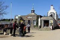 Pferdekutschen in Top of the Hill (village), Insel Sark, Kanalinseln