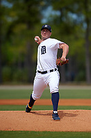 Detroit Tigers pitcher Jordan Zimmerman (27) during a minor league Spring Training game against the Washington Nationals on March 21, 2016 at Tigertown in Lakeland, Florida.  (Mike Janes/Four Seam Images)