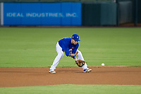 AZL Cubs second baseman Carlos Sepulveda (16) on defense against the AZL Angels on August 31, 2017 at Sloan Park in Mesa, Arizona. AZL Cubs defeated the AZL Angels 9-2. (Zachary Lucy/Four Seam Images)