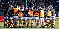 Photo: Richard Lane/Richard Lane Photography. Exeter Chiefs v Wasps. Aviva Premiership. 12/02/2017.  Wasps huddle.