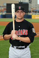 June 12th 2008:  First baseman Steve Pearce of the Indianapolis Indians, Class-AAA affiliate of the Pittsburgh Pirates, during a game at Fifth Third Field in Toledo, OH.  Photo by:  Mike Janes/Four Seam Images