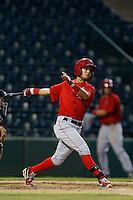Erick Salcedo #19 of the AZL Angels bats against the AZL Diamondbacks at Tempe Diablo Stadium on July 14, 2013 in Tempe, Arizona. AZL Angels defeated the AZL Diamondbacks, 5-3. (Larry Goren/Four Seam Images)