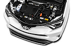 Car Stock 2016 Toyota RAV4 Style 5 Door SUV Engine  high angle detail view