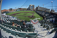 A wide angle view of Hawkins Field during the NCAA baseball game between the South Carolina Gamecocks and the Vanderbilt Commodores on March 21, 2021 in Nashville, Tennessee. (Brian Westerholt/Four Seam Images)