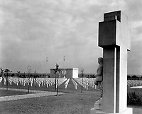 St. Mihiel American Cemetery, near Thiaucourt, France.  Soldier Monument and Chapel, Ca. 1925-35.  (American Battle Monuments Commission)<br />Exact Date Shot Unknown<br />NARA FILE #:  117-MC-28-4<br />WAR & CONFLICT BOOK #:  707
