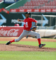 Denny Larrondo participates in the MLB International Showcase at Estadio Quisqeya on February 22-23, 2017 in Santo Domingo, Dominican Republic.
