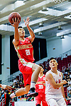 Wong Tsz Him #21of Nam Ching Basketball Team tries to score during the Hong Kong Basketball League game between SCAA and Nam Ching at Southorn Stadium on May 4, 2018 in Hong Kong. Photo by Yu Chun Christopher Wong / Power Sport Images