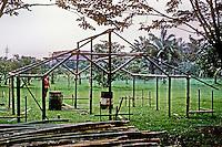 Philippines: Manila--Nayong Pilipino Frame of traditional house. Photo '82.