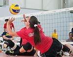 Shacarra Orr, Rio 2016 - Sitting Volleyball // Volleyball Assis.<br /> Canada's Womens Sitting Volleyball team plays a practice match vs Team USA // L'équipe canadienne féminine de volleyball assis joue un match d'entraînement contre l'équipe américaine. 06/09/2016.