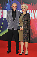 """Roger Frappier and Caroline Dumas at the 65th BFI London Film Festival """"The Power Of The Dog"""" American Express gala, Royal Festival Hall, Belvedere Road, on Monday 11th October 2021, in London, England, UK. <br /> CAP/CAN<br /> ©CAN/Capital Pictures"""