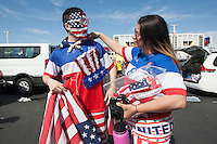 Santa Clara, CA - Friday June 3, 2016:  USA fans before the game. USA played Colombia in the opening match of the Copa América Centenario game at Levi's Stadium.