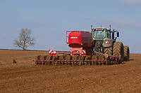 7-3-2021 Drilling Spring Barley in Rutland <br /> ©Tim Scrivener Photographer 07850 303986<br />      ....Covering Agriculture In The UK....