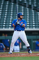 AZL Cubs 2 Alexander Guerra (44) at bat during an Arizona League game against the AZL Reds on July 23, 2019 at Sloan Park in Mesa, Arizona. AZL Cubs 2 defeated the AZL Reds 5-3. (Zachary Lucy/Four Seam Images)