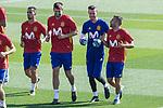 Gerard Pique, David de Gea and Jordi Alba during training of the spanish national football team in the city of football of Las Rozas in Madrid, Spain. August 30, 2017. (ALTERPHOTOS/Rodrigo Jimenez)