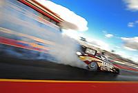 Jan 24, 2009; Chandler, AZ, USA; NHRA funny car driver Del Worsham during testing at the National Time Trials at Firebird International Raceway. Mandatory Credit: Mark J. Rebilas-