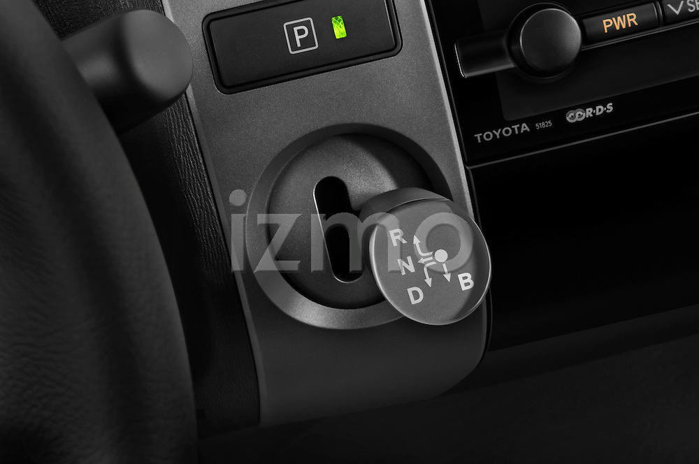 Gear shift detail view of a 2008 Toyota Prius Touring