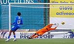 07.02.2021 Hamilton v Rangers: Allan McGregor saves for Rangers