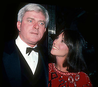 Phil Donahue Marlo Thomas 1984 Photo by Adam Scull-PHOTOlink.net
